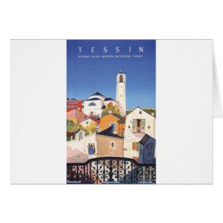 Suiça do cantão de Ticino Tessin do vintage Cartão Comemorativo