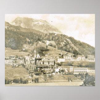 Suiça do vintage, St Moritz 1906 Pôster