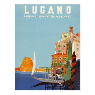 Suiça italiana do recurso de Lugano do vintage Cartão Postal