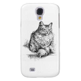 Suiça os trabalhos de arte do gato capa samsung galaxy s4