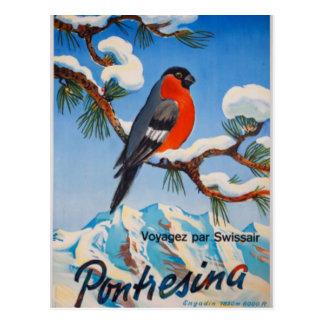 Suiça suíça do ar das férias de Pontresina do Cartão Postal