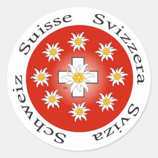 Suíça Suisse Svizzera Svizra autocolante
