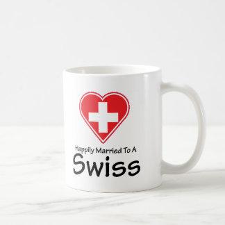 Suíço feliz casado caneca de café
