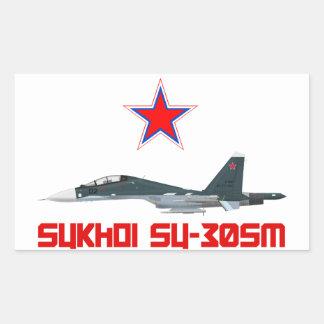 Sukhoi Su-30SM Russian Air Force VKS Adesivo Retangular