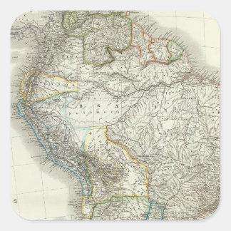 Sul América - Ámérica do Sul Adesivo Quadrado