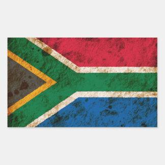 Sul áspero - bandeira africana adesivo retangular