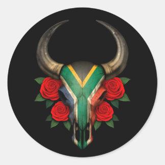 Sul - crânio africano de Bull da bandeira com Adesivo