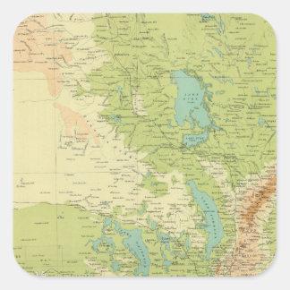 Sul da Austrália Adesivos Quadrados