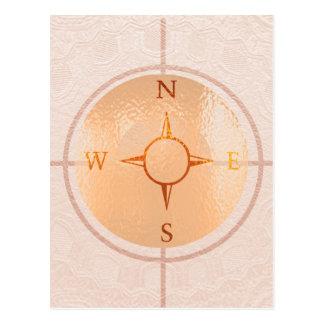 Sul leste-oeste norte da NOTÍCIA do COMPASSO Cartão Postal