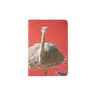 Sul - suporte africano do passaporte da avestruz capa para passaporte