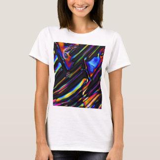 Sulfato dos elementos/zinco sob o microscópio t-shirt
