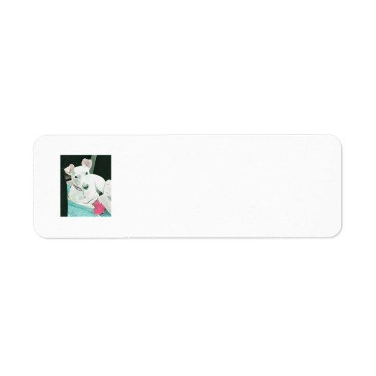 Sully o Jack Russell Terrier Etiqueta Endereço De Retorno