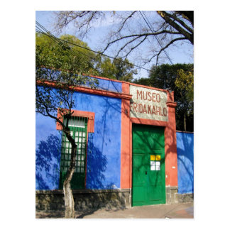 Sumário a casa azul em Coyoacan, onde Ka de Frida Cartoes Postais
