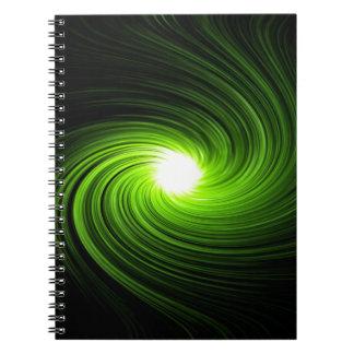 Sumário verde do redemoinho caderno