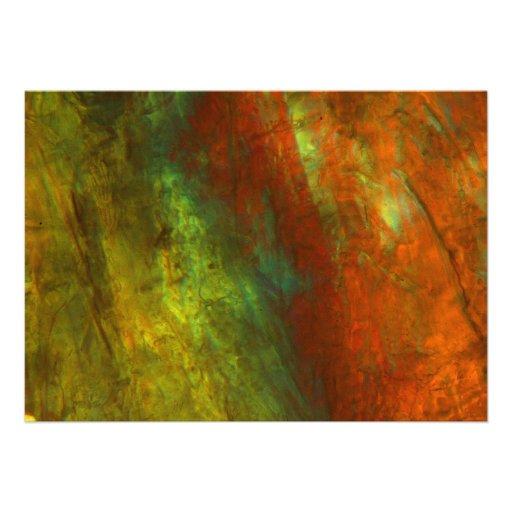 Sumo de laranja congelado sob o microscópio convite personalizado