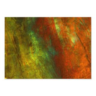 Sumo de laranja congelado sob o microscópio convite 12.7 x 17.78cm