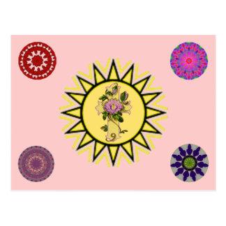 Sun com cruz cartão postal