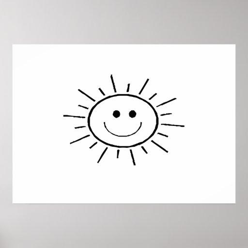 Sun de sorriso pôsteres