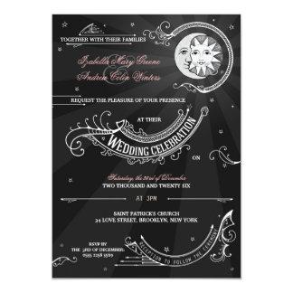 Sun e amor da lua - casamento do Clássico-vintage Convite 12.7 X 17.78cm