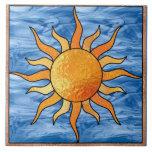 Sun e azulejo Trivet do céu