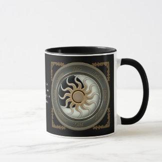 Sun e canecas personalizadas da lua roda pagã