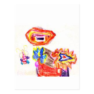 Sun e jGibney Flower1 a série K do artista do Cartao Postal