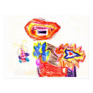 Sun e jGibney Flower1 a série K do artista do Cartões Postais