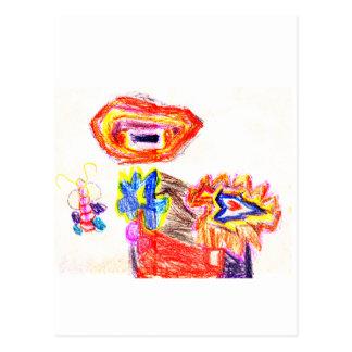 Sun e jGibney Flower1 a série K do artista do Cartão Postal