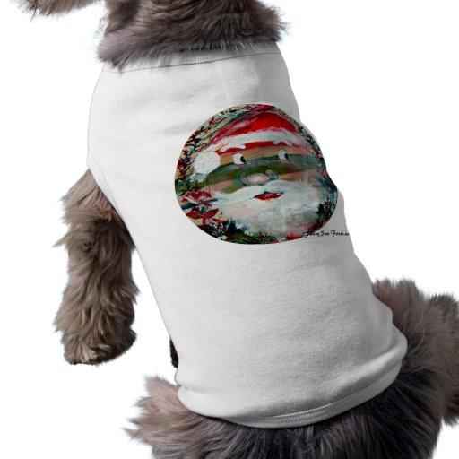Sun engraçado enfrenta presentes de época natalíci camisas para cães
