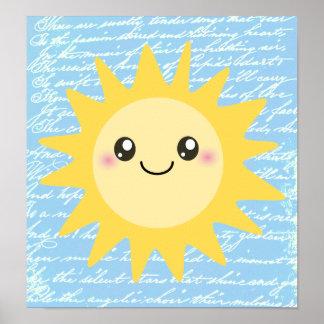 Sun feliz bonito poster