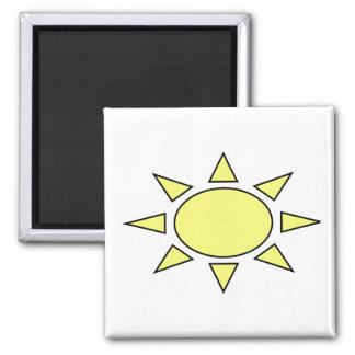 Sun Ímã Quadrado