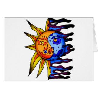 Sun/lua Yin Yang Cartão Comemorativo