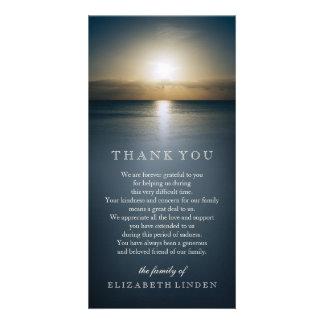 Sun sobre o obrigado da simpatia do oceano | você cartão com foto
