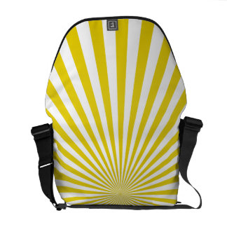 Sunburst amarelo bolsa mensageiro