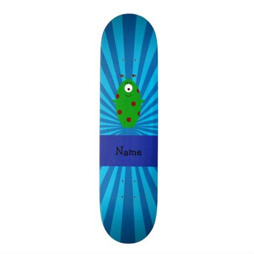 Sunburst azul estrangeiro conhecido personalizado skate