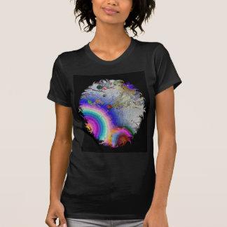 Sunburst do esmalte com quadro oval t-shirts
