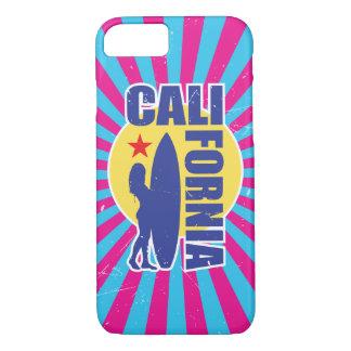 Sunburst do surfista de Califórnia do estilo do Capa iPhone 7