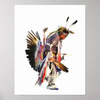 Sundancer - poster da arte do nativo americano 11x