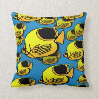 Sunfish alaranjado & amarelo almofada