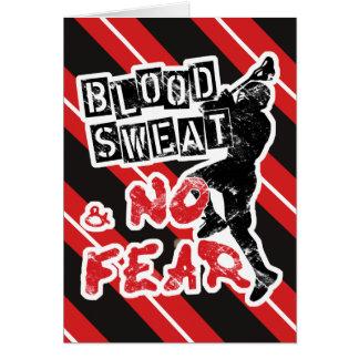 Suor do sangue e nenhum cartão do Lacrosse do medo