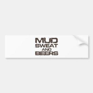 Suor e cervejas da lama adesivo para carro