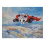 Super-herói da panda convite 10.79 x 13.97cm