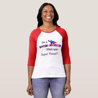 Super-herói do assistente social t-shirts