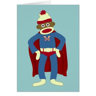 Super-herói do macaco da peúga cartoes