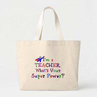 Super-herói do professor sacola tote jumbo