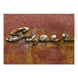 Super (oxidado) cartão comemorativo