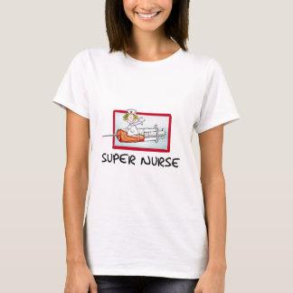 supernurse - enfermeira cómico dos desenhos camiseta