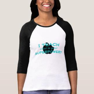 Superpotência do professor camiseta