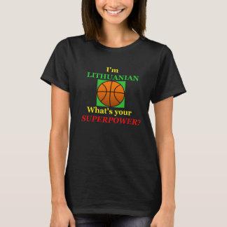 Superpotência lituana do basquetebol das camisetas
