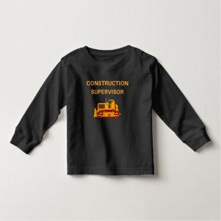 Supervisor bonito da construção, t-shirt da camiseta infantil